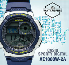 Casio Standard Digital Sporty Design Watch AE1000W-2A