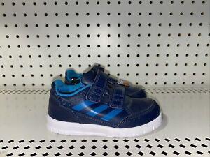 Adidas AltaSport CF Boys Baby Infant Leather Athletic Shoes Size 7K Blue