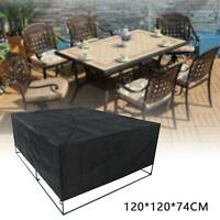 120x120x74cm Waterproof Garden Patio Furniture Cover Rattan Table Cube
