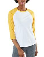 TSLA Women's 3/4 Sleeve Baseball Jersey Shirts, Casual Dynamic Cotton T-Shirt