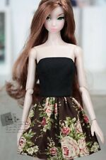 Momoko MMK Doll Outfit Black Floral Tube Dress