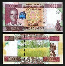 Guinea 10000 Francs 2012, UNC, P-46, Prefix XU
