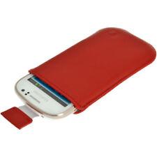Fundas y carcasas Para Samsung Galaxy S color principal rojo de piel para teléfonos móviles y PDAs