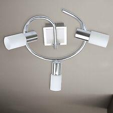 wofi LED CEILING LIGHT BAS 3 Arms Nickel Adjustable Glass White 15 Watt