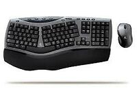 Logitech Keyboard and Mouse Set Cordless Desktop Comfort Laser 967692-0103 Itali