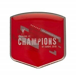 Liverpool FC Champions Of Europa 2019 Metall Anstecknadel -officially Licensed (
