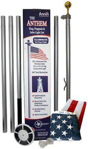 American Flag and Flagpole Set - 20ft. Alum In-Ground Flagpole & US Flag 742371