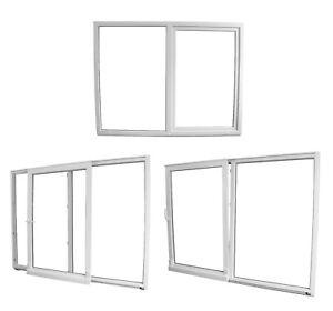 Balkontür Terrassentür PSK Parallel Schiebetür Kunststoff weiß 3-Fach Premium