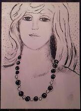 Jean Pierre Cassigneul : Lithographie Originale. Portrait féminin.