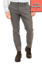 RRP €120 MICHAEL COAL Chino Trousers Size 33 Garment Dye Textured Made in Italy