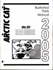 2005  ARCTIC CAT SNOWMOBILE M6 EFI  PARTS MANUAL P/N 2257-142  (687)