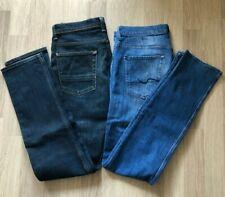 LOT 2 JEANS 7 for all mankind CHAD Pantalon Hose Trousers Size 32 Blue Bon état
