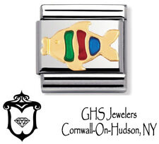 Nomination Composable Classic Gold And Enamel TROPICAL FISH Charm Italy