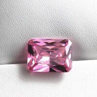 Pink Sapphire 12x16MM 17.30Ct Emerald Cut AAAAA VVS Loose Gemstone