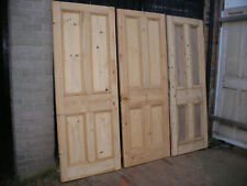 Reclaimed Victorian 4 panel stripped pine doors.