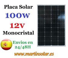 Placa panel solar 100w 12v , panel solar Monocristalino.