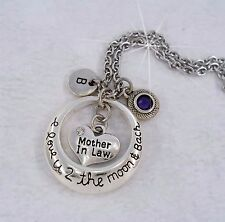 Mother in Law I Love U 2 the Moon and Back Necklace - Gift for Mother-In-Law