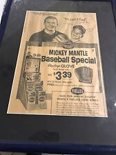 Autographed Mickey Mantle Newspaper Insc Mick Jr Framed JSA Full Letter