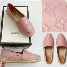 Gucci GG Signature Rose Baby Leather Espadrille Slip On 39/US 9 Worn Once
