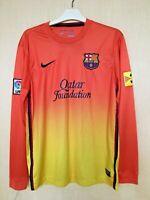 FC BARCELONA 20122013 AWAY FOOTBALL JERSEY CAMISETA SOCCER  SHIRT LONG SLEEVE
