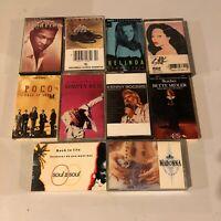 Lot Of 10 1980s 80s Cassettes Madonna Bette Midler Kenny Rogers Etc #2