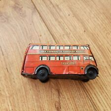 TIN TOY WELL BRIMTOY LONDON BUS MADE IN ENGLAND 1950 tin plate