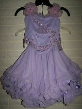 NWT Girls PERFECT ANGEL 1188 Pageant Dance Dress Gown Lilac 4T