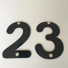 Black Gloss, Drilled Finish, House Number - Rounded Font (Listing is for 1 No)