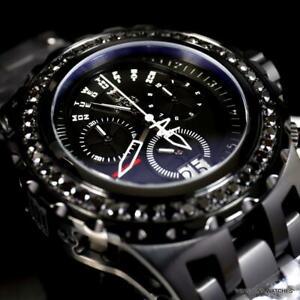 Invicta JT Subaqua Specialty 4.41 CTW Black Diamond Steel Swiss Watch 52mm New