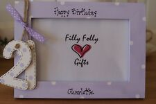 Personalised Photo Frame! 18th 21st 30th 40th 70th 80th Gift! 6x4''
