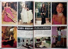 MARISA BERENSON => coupure de presse ESPAGNOLE 3 pages 1972 / FRENCH CLIPPING !!