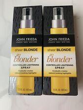 2x John Frieda Sheer Blonde Go Blonder Lightening Spray 3.5fl oz/103ml New