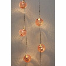 H&H... COPPER LANTERNS LED CHAIN FAIRY LIGHTS BATTERY OPERATED*CLEARANCE*110*