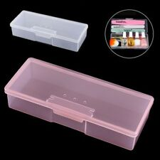 Plastic Rectangle Small Empty Box Nail Art Home Tools Brush Pen Storage Case
