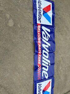 "Valvoline Welcome Race Fan Banner 25 3/4""X 103"""