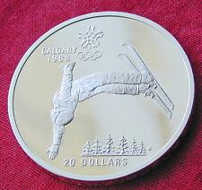 1988 Calgary Winter Olympics 1 oz silver coin - free style skiing