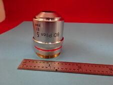 NIKON JAPAN BD OBJECTIVE 5X 210/0  MICROSCOPE PART OPTICS &R3-A-25