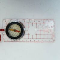 Mini Baseplate Ruler Compass Hiking Camping Map Scale Navigation Tool