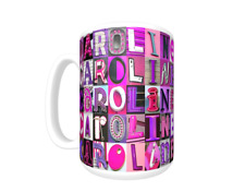 CAROLINE Coffee Mug / Cup featuring name in photos of PINK/PURPLE sign letters
