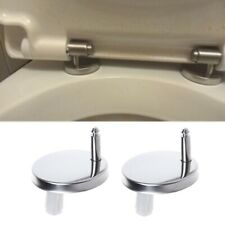 2Pcs Top Fix WC Toilet Seat Hinges Fittings Quick Release Cover Hinge Screw