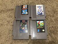 Lot Of 4 Nintendo NES Games Top Gun Duck Hunt Mario Trojan Golf