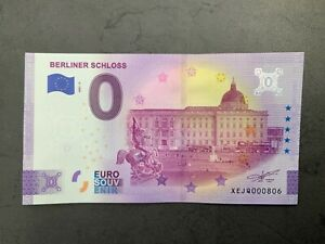 Anniversary-Null-0-Euro-Souvenir-Schein 2021-5 # Berliner Schloss # XEJQ