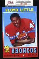 Floyd Little JSA Coa Autograph Hand Signed 4x6 Photo