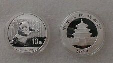 2014 1 oz Silver Chinese Panda Coins (In Capsule). Mint condition.