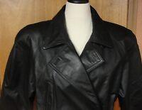 Beautiful Womens Wilsons Black Leather Jacket, Size L