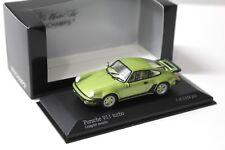 1:43 Minichamps Porsche 911 (930) turbo Lind Green NEW chez Premium-modelcars