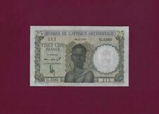 FRENCH WEST AFRICA 25 Francs 1950 P-38 EF-AUNC KEY DATE
