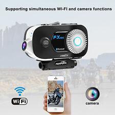 FX30C 6 Riders Motorcycle Intercom Communication System 1080P Camera BT Intercom
