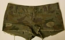 Mossimo Supply Co green camo shorts size 1 ladies