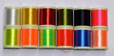 12 Spools Of 100 Yd Danville 210 Denier Waxed Flymaster Thread Fly And Jig Tying